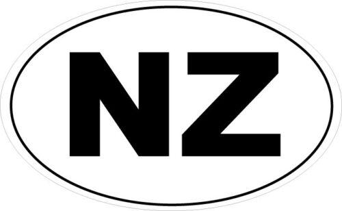 NEW ZEALAND SILHOUETTE IN AN OVAL SHAPE STICKER NZ 16 cm x 9 cm