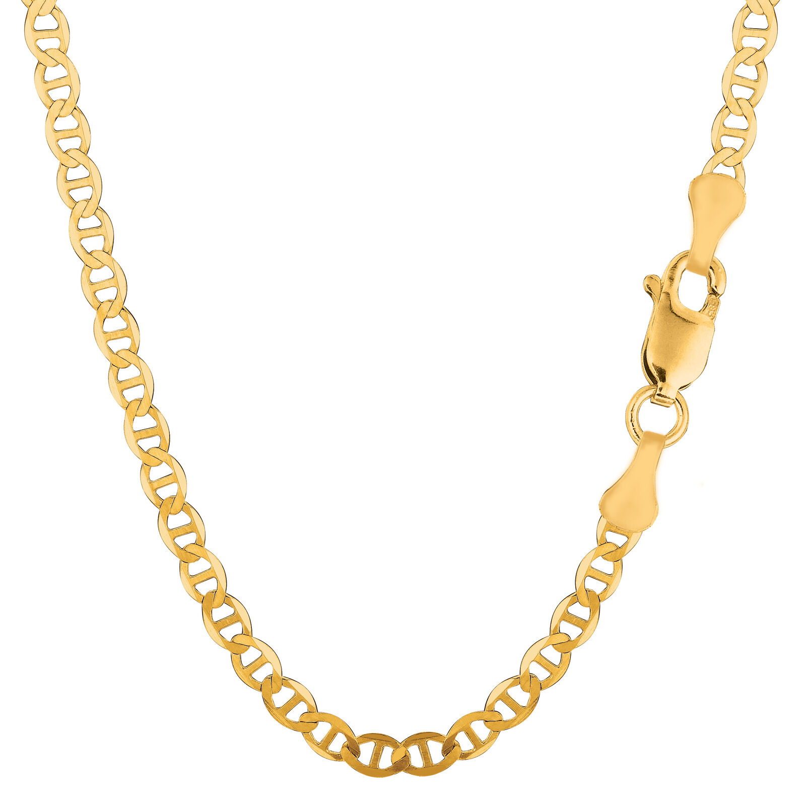 14K Yellow gold Mariner Link Chain, 4.5 mm