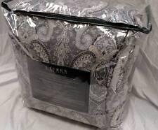$400 Ralph Lauren Waterford Paisley Gray 4-Piece Full/Queen Comforter Set