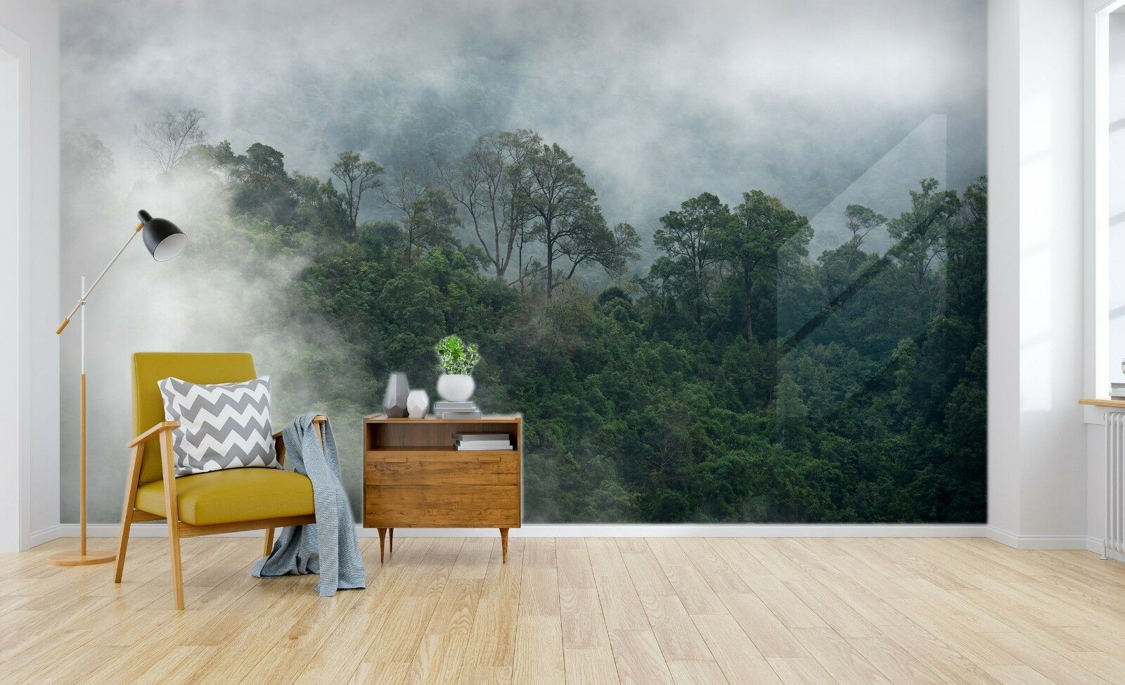 3D Beautiful Fog Forest 6 Wallpaper Murals Wall Print Wallpaper Mural AJ WALL AU