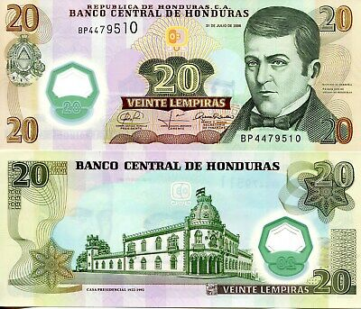 Sign HONDURAS 20 Lempiras Banknote World Paper Money UNC Currency Pick p95 Alt