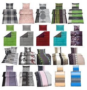 Bettwaesche-Microfaser-viele-neue-Designs-2-Groessen-2-4Tlg-135x200-155x220cm