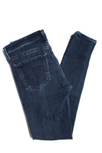 AG-Adriano-Goldschmied-Womens-Mid-Rise-Skinny-Slim-Jeans-Pants-Cotton-Size-25