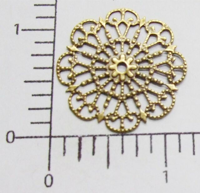 24783         2 Pc Brass Oxidized Victorian Filigree Jewelry Finding