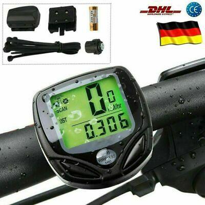 Funk Kabellos Fahrrad computer Fahrrad Tachometer Radfahren Kilometerzähler DHL