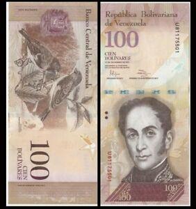 BEAUTIFUL VENEZUELA UNC BANKNOTE June 23, 2015 100 Bolivares 2015 Pick-93j