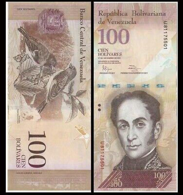 P-93 UNC World Currency 2015 VENEZUELA 100 Bolivares