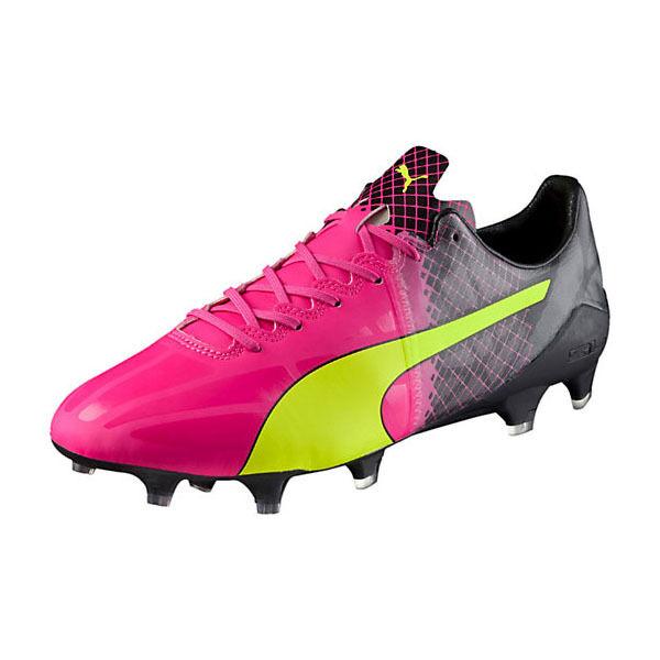 Puma Men's EvoSpeed 1.5 Tricks FG Pink Glow/Safety Yellow/Black 103597 01