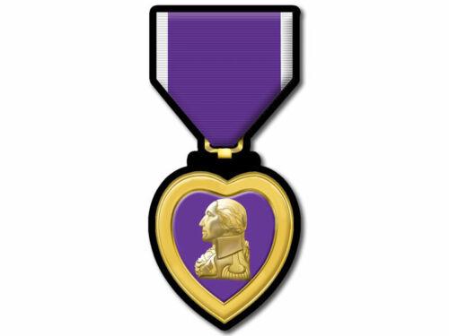 2x4 inch Police Version of Purple Heart w//o Merit Sticker cop award law officer