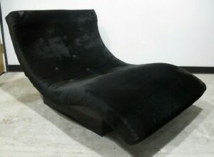 ADRIAN-PEARSALL-STYLE-BLACK-VELVET-WAVE-CHAISE-LOUNGE-CHAIR-mid-century-modern