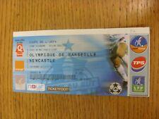 06/05/2004 Ticket: UEFA Cup Semi-Final - Olympique De Marseille v Newcastle Unit