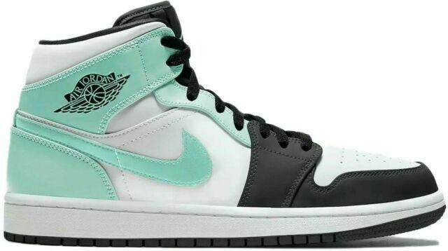 Size 9.5 - Jordan 1 Mid Island Green for sale online   eBay
