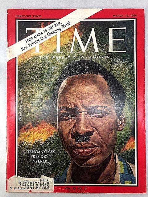 Time Magazine MARCH 13, 1964 | TANGANYIKA'S PRESIDENT NYERERE | Grade 9