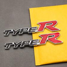 2x Chrome Metal Black Amp Red Coated Type R Car Emblem Rear Lid Trunk Sport Badge Fits 2012 Honda Civic