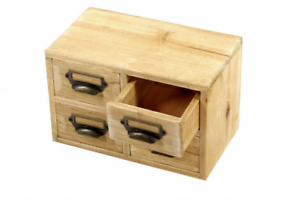 Small-Storage-Unit-Desktop-Cabinet-4-Drawers-Office-Home-Organiser-Solid-Wood