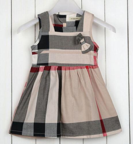 Girls designer quality 100/% cotton sleeveless dress size 1-5 tartan style