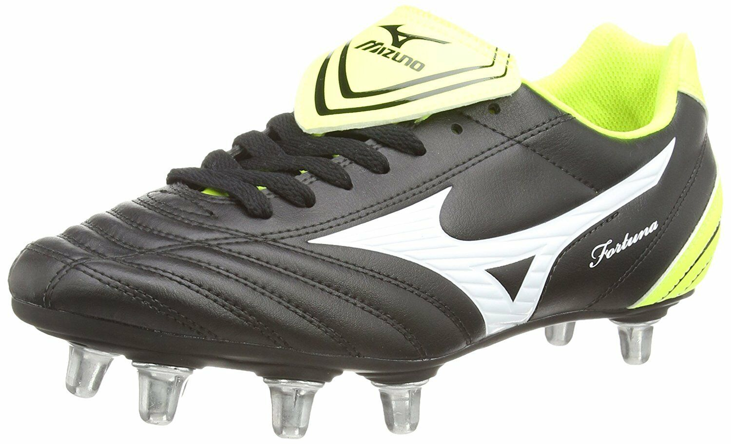 Details about Mizuno Fortuna Rugby Sp Men's Rugby Boots (BlackWhiteYellow) 7 UK (40 12 EU)