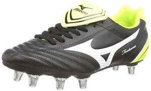 b931cb1cbb5 Mizuno Fortuna Rugby Sp Men s Rugby Boots (Black White Yellow) 7 UK ...