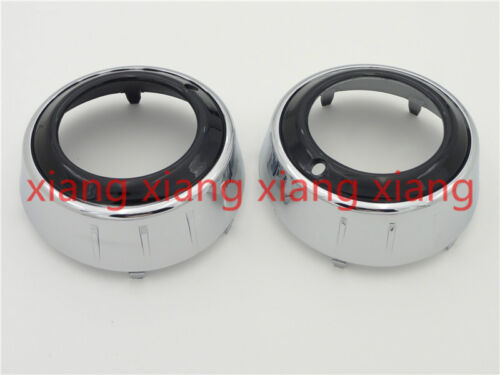 Pair Chrome Front Fog Lamp Ring Light Covers for Mitsubishi Outlander GT 2009-10