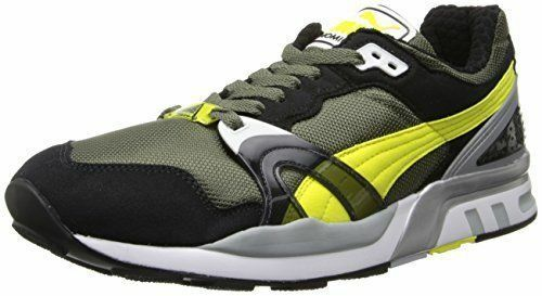 Puma Trinomic XT 2 Men's Black Yellow Olive Running Shoes Fashion Sneakers  13