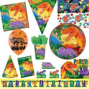 Dino-fete-anniversaire-d-039-ENFANT-MOTIF-DINOSAURE-decorer-decoration-SET