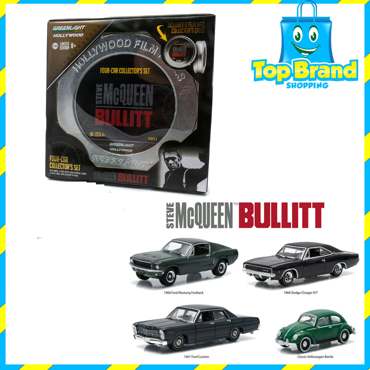marchio in liquidazione verdelight 1 64 Scale Set Of 4 Hollywood Film Film Film Reels Series 3 Steve Mcregina autos  molto popolare