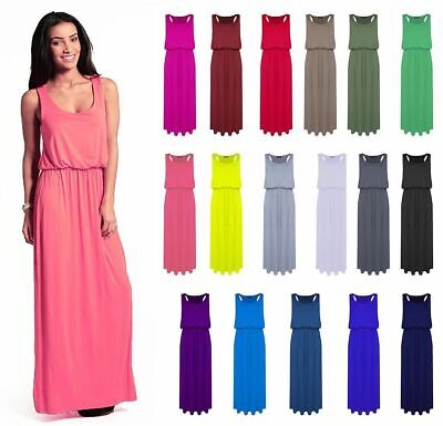 WOMENS TOGA MAXI VEST DRESS LADIES PUFF BALL RACER BACK MAXI PLUS SIZE 8-26