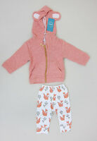 Jump Around Fox Two Piece Track Suit - Infant 4-6 Months - Light Red -
