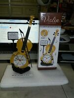 Violin Shaped Alarm Clock Usa Stocked And Shipped Battery Operated