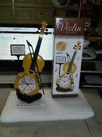 Violin Shaped Alarm Clock Usa Stocked And Shipped Battery Operated