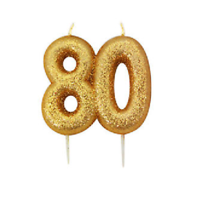 80th-Birthday-Cake-Candle-Gold-Anniversary-Glitter-Age-Number-Party-Topper-Gift
