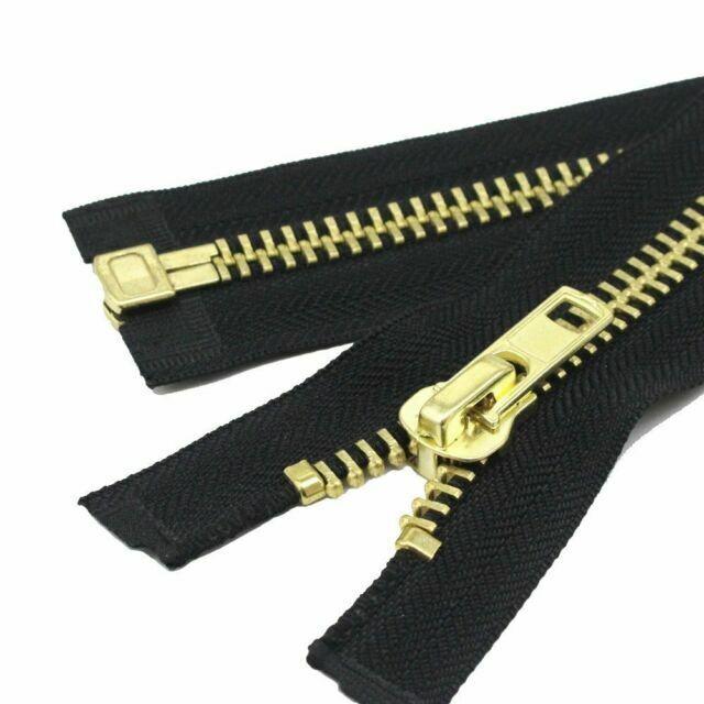 1 Zipper//Pack YKK Sale 25 Medium Weight Jacket 5 Antique Nickel Metal-Separating ~ 580 Black