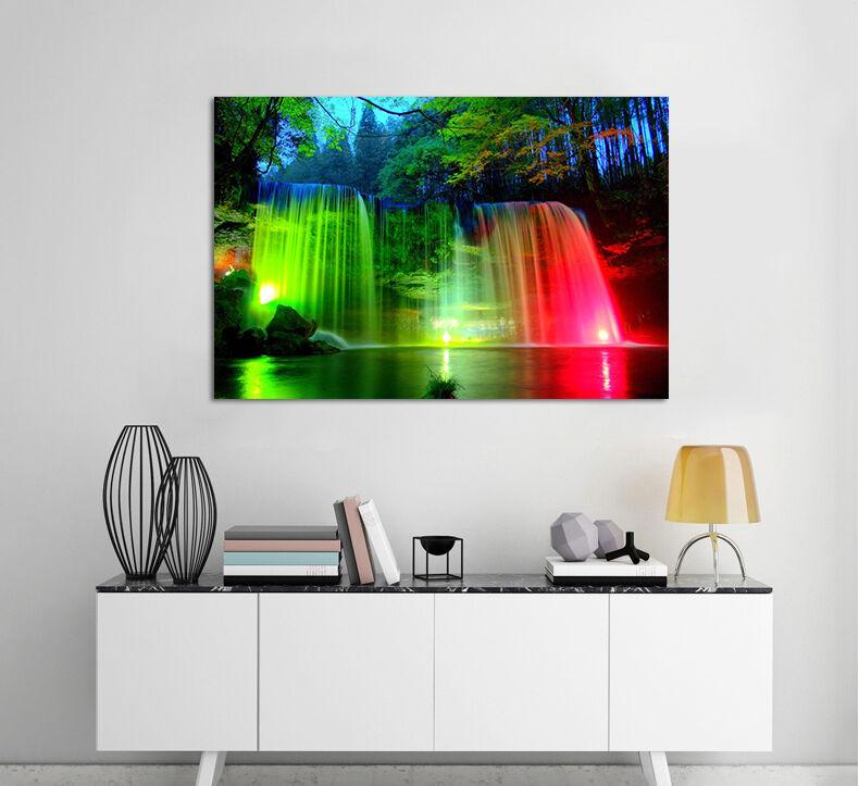 3D Falls die neon 5 Fototapeten Wandbild BildTapete Familie AJSTORE DE