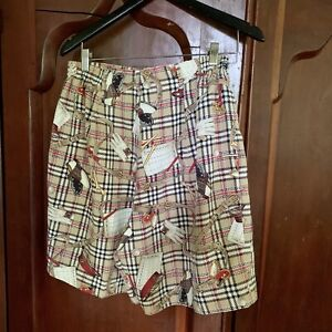 LL SPORT Vintage 80's Golf Graphic Shorts Houndstooth Plaid 12