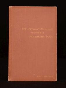 1888-William-Shakespeare-His-Epitaph-Unearthed-Scott-Surtees-Authorship-Problem