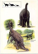 Saurischian reptiles•Enormous Dinosaurs•Lower Jurassic Period•4x6 POSTCARD