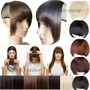 Clip Ins Clip In Front Hair Bang Fringe Hair Extension Straight