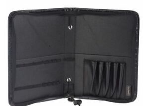 Darac-Beauty-Solution-Central-Standing-Travel-Black-Brush-Makeup-Case-Clutch-Bag