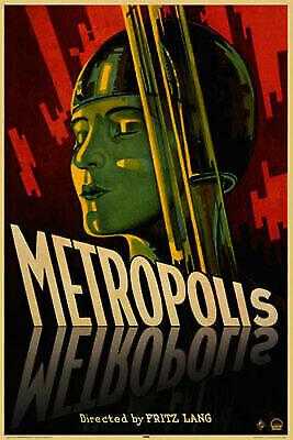 V390 METROPOLIS Movie Fritz Lang Sci Fi Classic Art Silk Poster wall decor 12x18