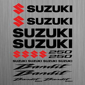 SUZUKI-Bandit-250-aufkleber-sticker-motorrad-motorcycle-18-Stucke-Pieces
