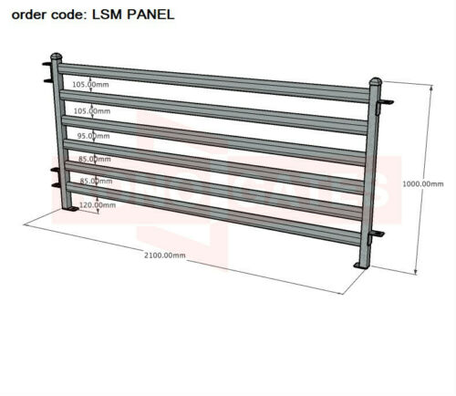 2100mm x 1000mm Sheep Goat Alpaca Yard Panel Sheep Yard Panels Sheep Gates