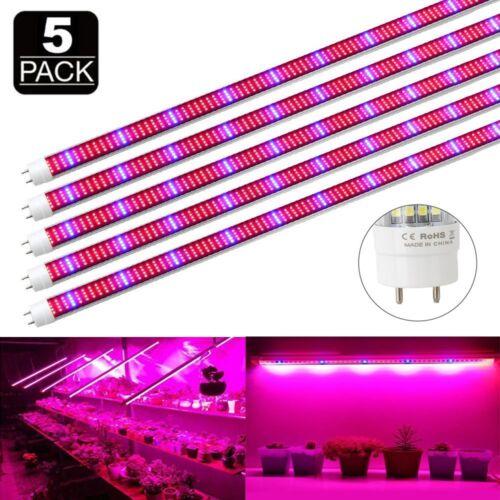 5X 60W 120CM T8 LED Tube Pflanzenlampe Leuchtstoffröhre Pflanzenleuchte Spektrum