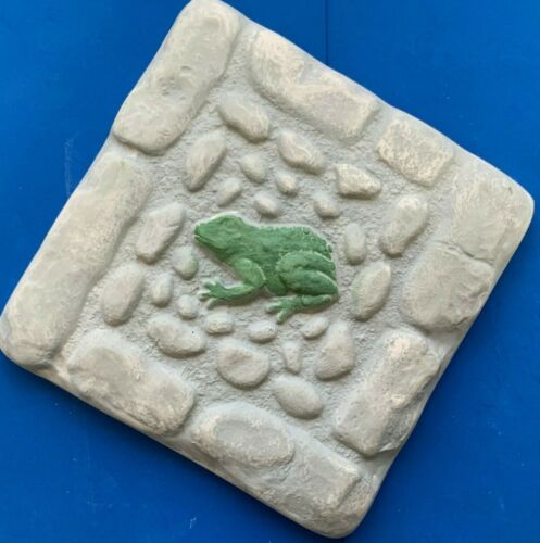 "Frog stepping stone mold plaster concrete casting mould 10/"" x 10/"" x 1.25/"" thick"