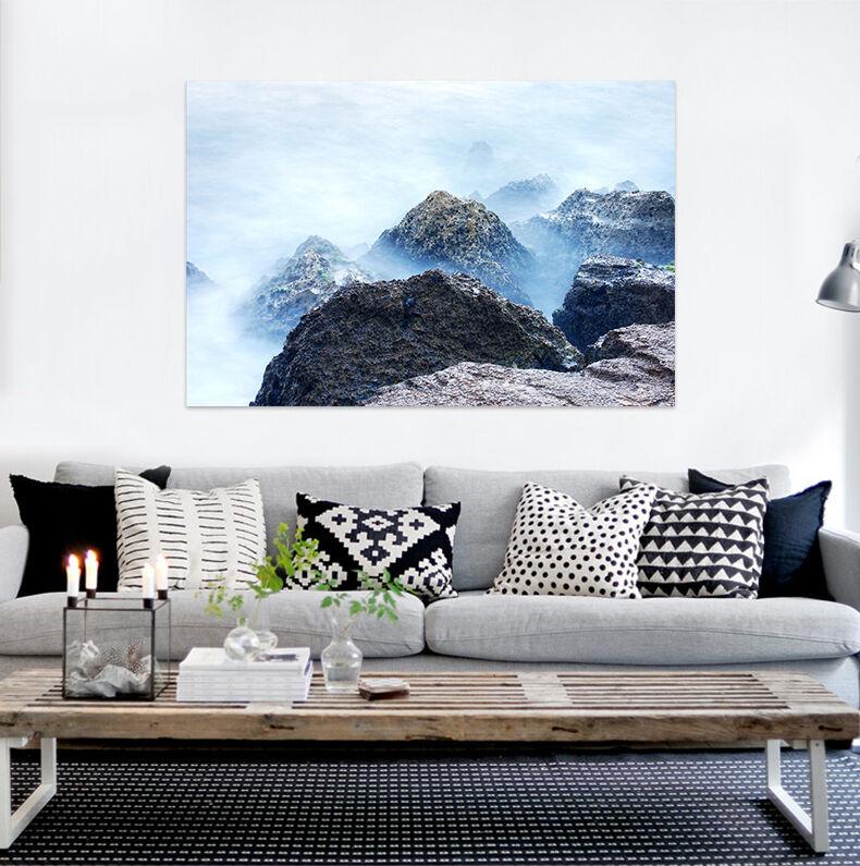 3D Klippe Bergspitze Foggy 743 Fototapeten Wandbild BildTapete AJSTORE DE Lemon