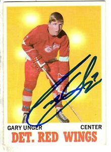 ffd0b1b25 Autographed GARRY UNGER Detroit Red Wings 1970-1 Topps card  26 - w ...