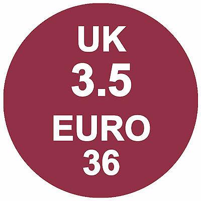 Zapato Tallas Pegatinas GB EURO + REAL / Piel Auténtica Etiquetas
