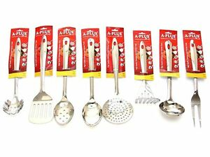 8 Pc Kitchen Cooking Utensil Set Serving Tools Spatula Spoon Stainless Steel