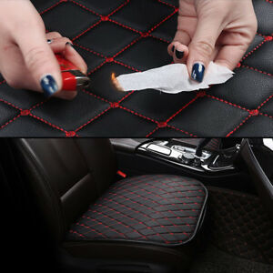 Auto-Seat-Cover-Front-Cushion-Black-PU-Red-Line-Universal-Car-Chair-Accessories