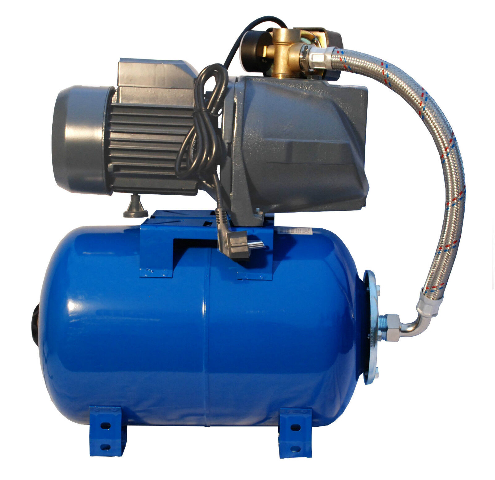 Ibo 2.5cmbooster Pompa Jsw150 2hp + 24l a Pressione Vessel-Well Mains Aumento