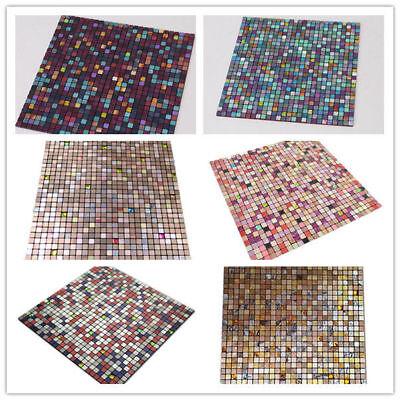 Self-adhesive Mosaic Aluminum Tile Kitchen Bathroom Backsplash Peel And Stick